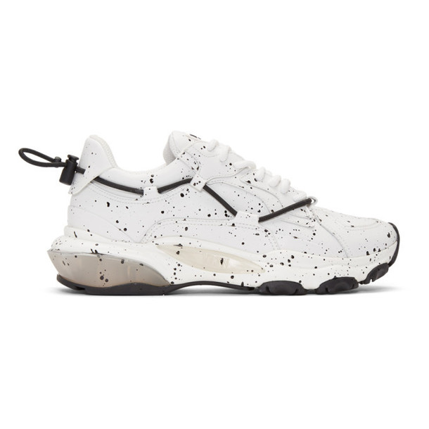 Valentino White Valentino Garavani Hand Spray Painted Bounce Sneakers