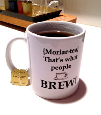 jewels tea moriarty sherlock weheartit funny people cup nice drink coffee quote on it mug home accessory
