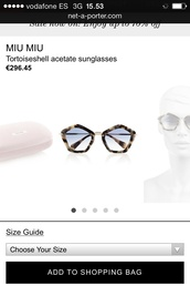sunglasses,geometric,miu miu