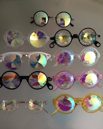sunglasses diamond lends multi colored