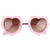 Heart Shaped Sunglasses With Pink Metal Lace Frames - Choies.com