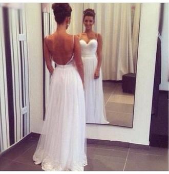 dress prom dress long prom dress 2014 prom dresses long dress open back dresses open back white dress wedding dress lace wedding dresses backless white dress