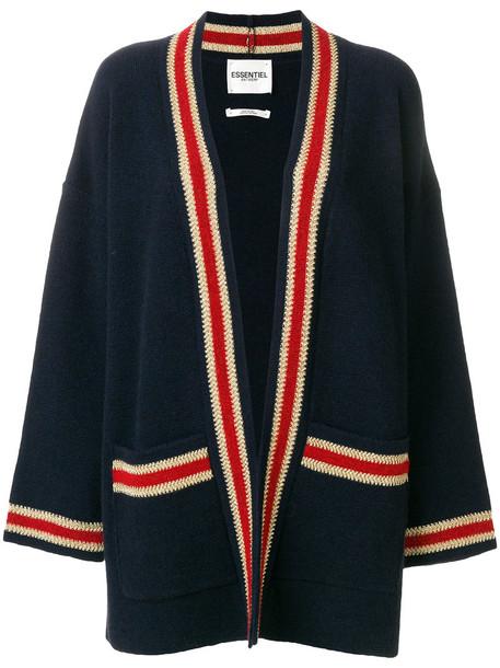ESSENTIEL ANTWERP cardigan cardigan women blue wool sweater