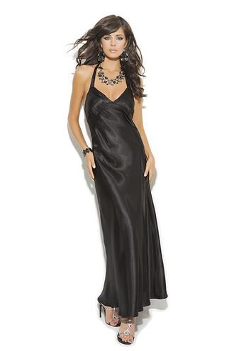 dress nightie black satin lingerie elegant moments bikiniluxe