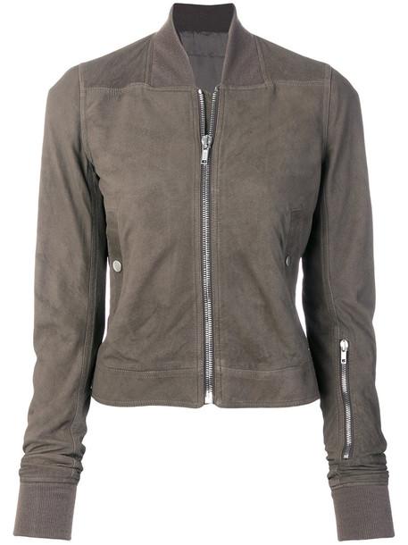 Rick Owens jacket bomber jacket women nude cotton silk
