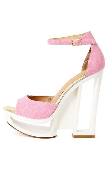 Dolce-4 Ankle Strap Cut Out Heels | MakeMeChic.com