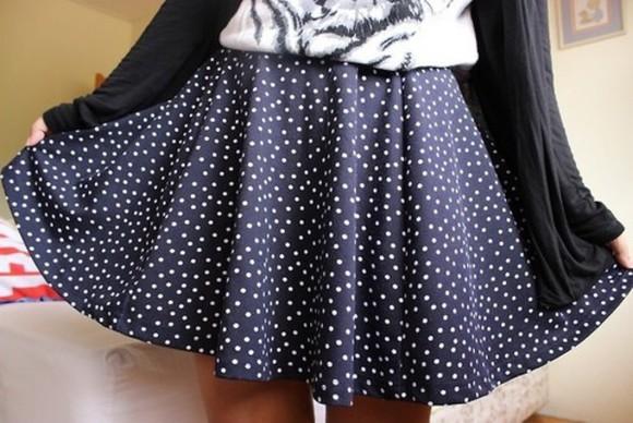 polka polka dots skirt