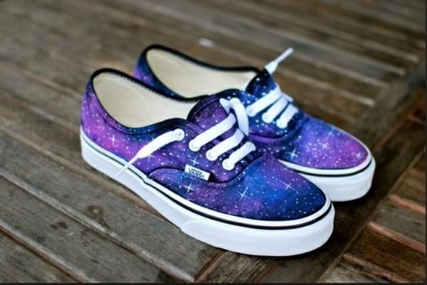 shoes vans galaxy print