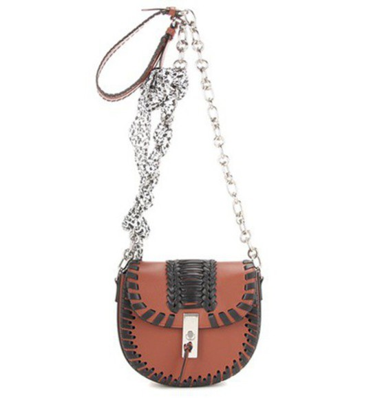 Altuzarra Ghianda Chain Leather Shoulder Bag in brown