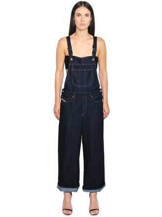 overalls denim overalls denim cotton blue jumpsuit