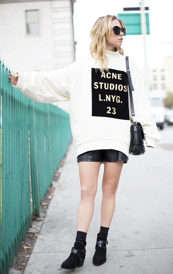 always judging sweater shorts shoes sunglasses bag jewels