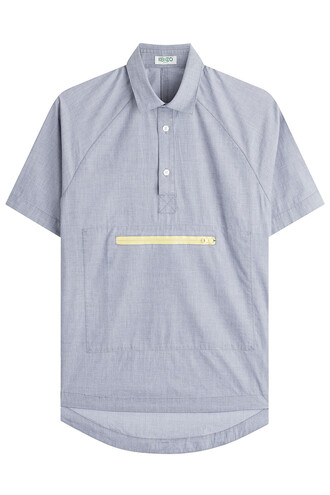 shirt cotton grey top