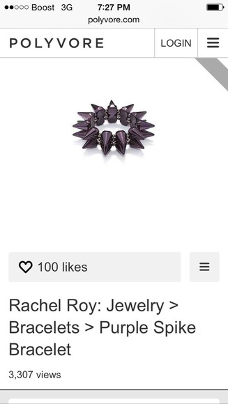 spike jewels bracelets purple accessories