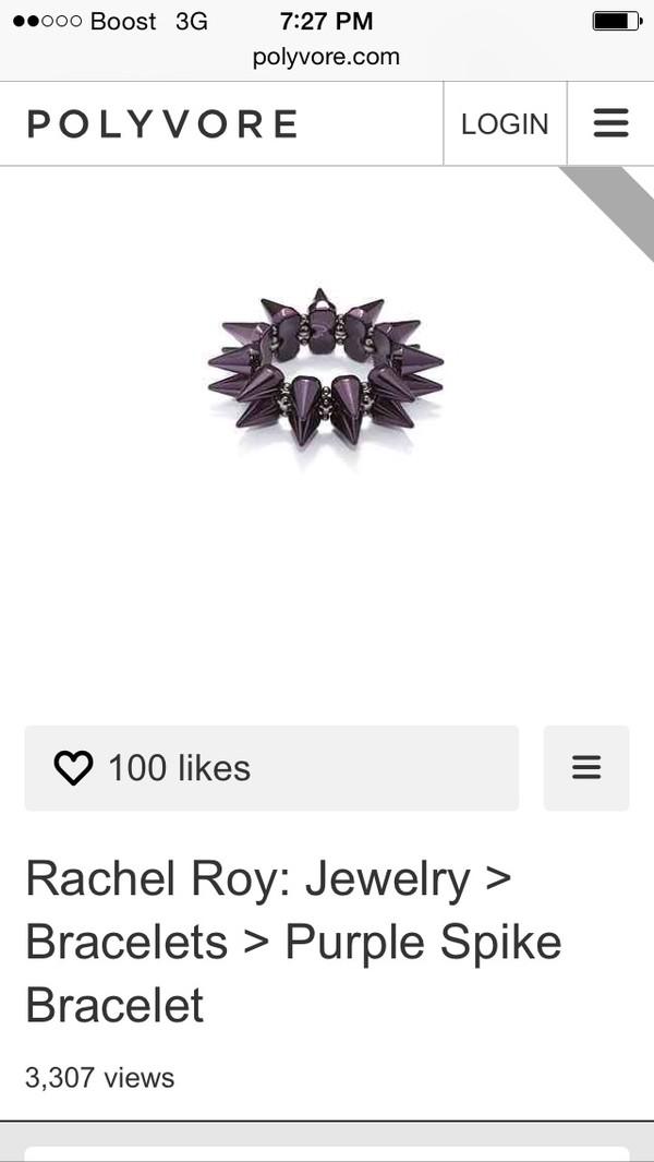 jewels purple spike bracelets jewelry accessories
