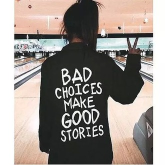 sweater black sweater quote on it hipster grunge cute