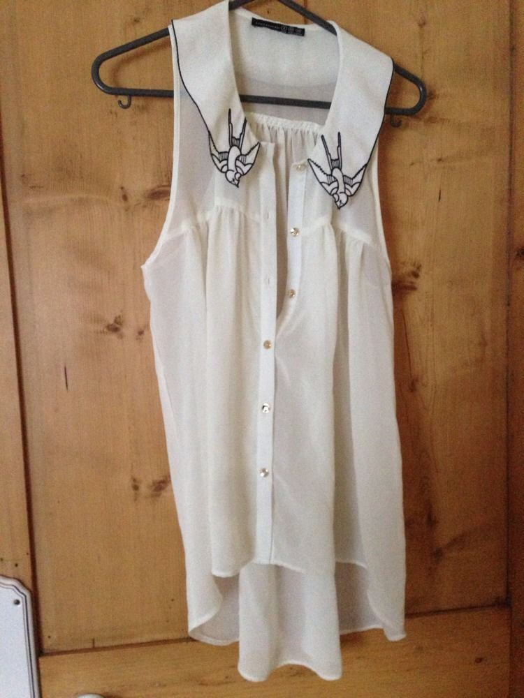 Swallow Collar Blouse Size 8 | eBay