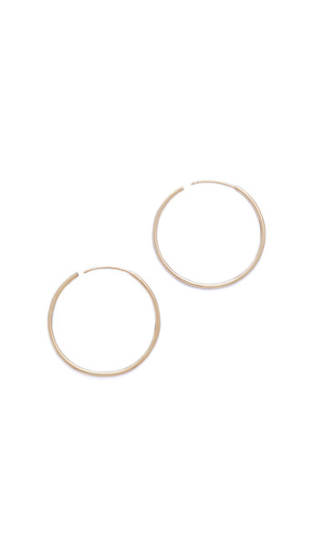 Shashi Plain Hoop Earrings - Gold