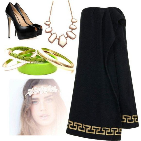 bangles jewels bracelets green necklace