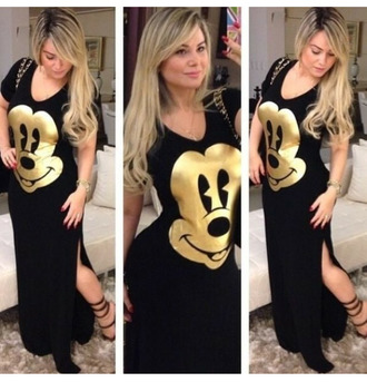 mickey mouse black dress