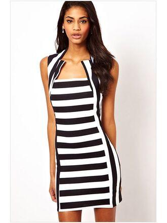 stripes striped dress bodycon dress
