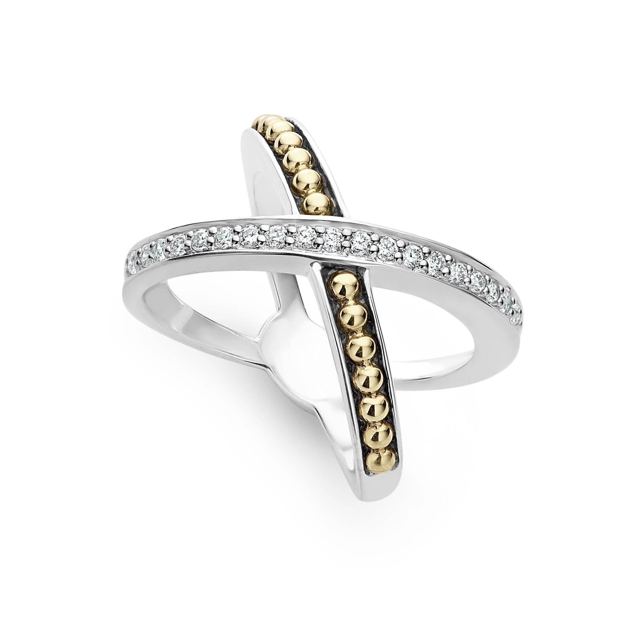 Diamond X Ring   KSL   LAGOS Jewelry