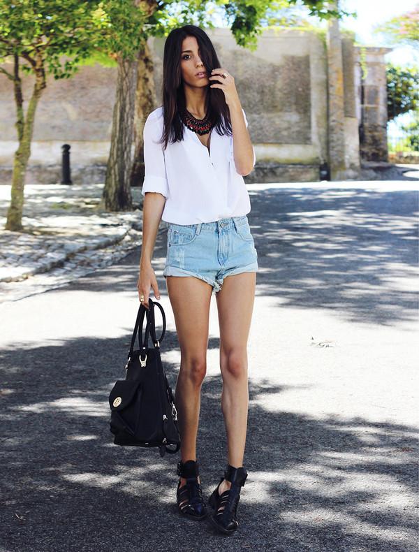 mexiquer jewels blouse shorts bag