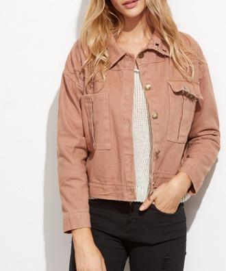 jacket girl girly girly wishlist denim denim jacket camel pockets