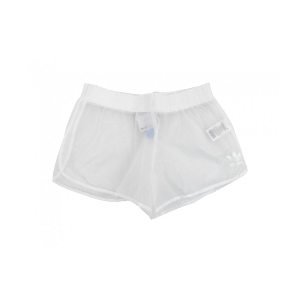 adidas OBYO JEREMY SCOTT CLEAR PLASTIC SHORTS (clear/white) - Polyvore