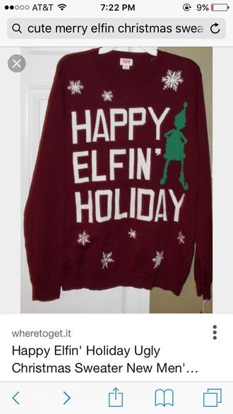 sweater ariana grande sweater christmas sweater burgundy sweater