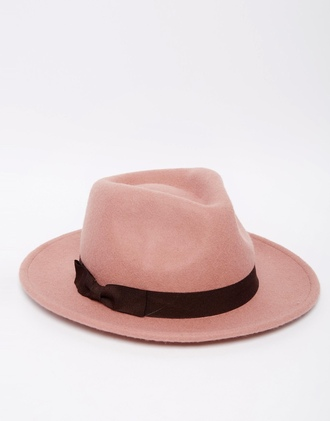 hat fedora cute rosa pink nude blogger fashionblogger fashion fashion blogger