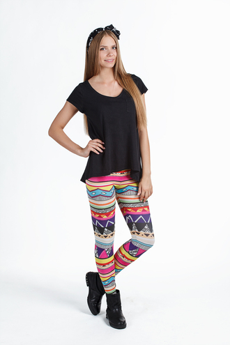leggings fusion clothing tribal print tribal leggings women women's