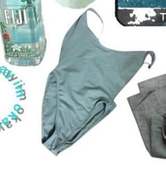 swimwear pastel swimwear one piece bathing suit instagram cute summer vintage pastel blue swimwear