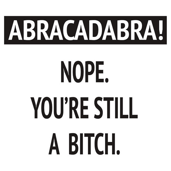"""Abracadabra! Nope. You're still a bitch."" T-Shirts & Hoodies by melaniewoon 
