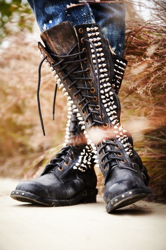 shoes studded shoes boots black badass