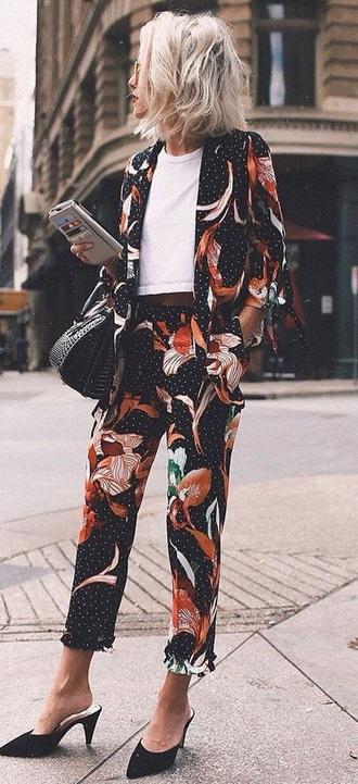 jacket summer workout leggings work outfits women romper suit sunglasses heels pants blazer pattern red