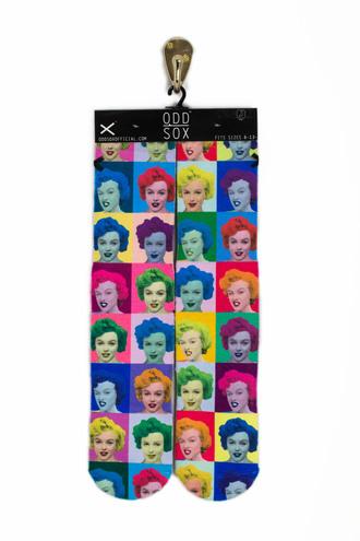 socks odd sox marilyn monroe fashion style dope trendy andy warhol