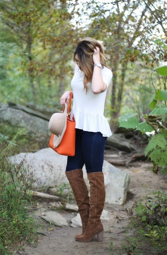 life & messy hair blogger shoes bag jeans hat top