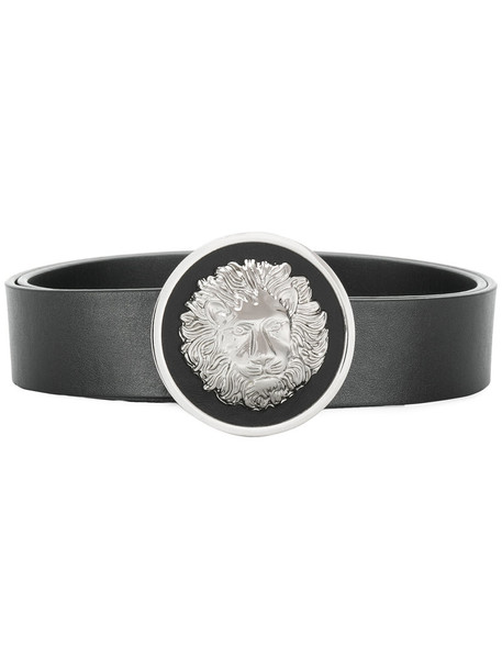 Versus metal lion women belt leather black