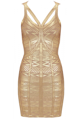 Gold Bandage Dress | Wag World | Online Boutique For Women