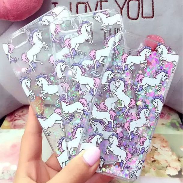 phone cover fashion unicorn glitter iphone cover iphone case cute teenagers kawaii style boogzel