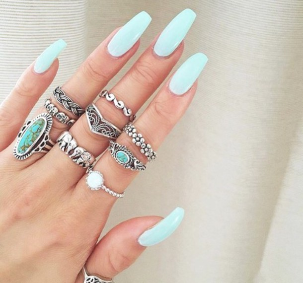 jewels, rings silver, rings and jewelry, jewelry rings, nails ...