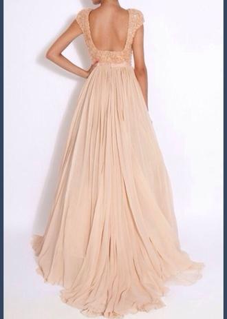 dress prom dress long prom dress evening dress backless dress backless prom dress peach dress blush pink pastel