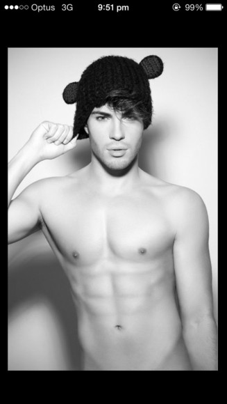 cute boy sexy body hat hot beanie babe