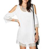 dress,chiffon dress,loose-fitting,strapless
