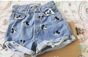 shorts,mickey shorts