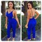 Cute blue elegant jumpsuit