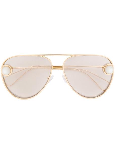 Christopher Kane Eyewear aviator sunglasses - Metallic