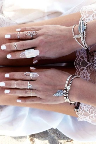 jewels silver knuckle ring ring crystal bracelets
