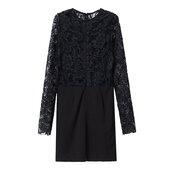 lace dress,sexy dress,crochet,little black dress,faux leather