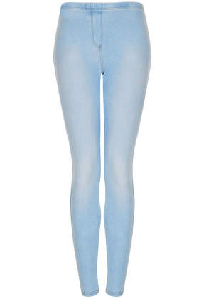 Washed Denim Look Leggings - Leggings  - Clothing  - Topshop